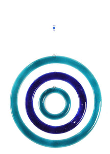 Windchime  3 Circles Aqua Blue
