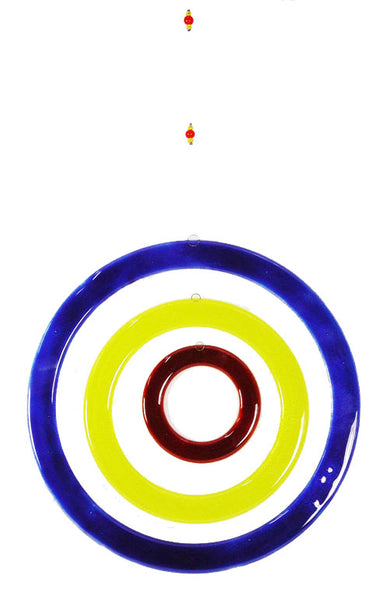 Windchime  3 Circles Red Blue Yellow