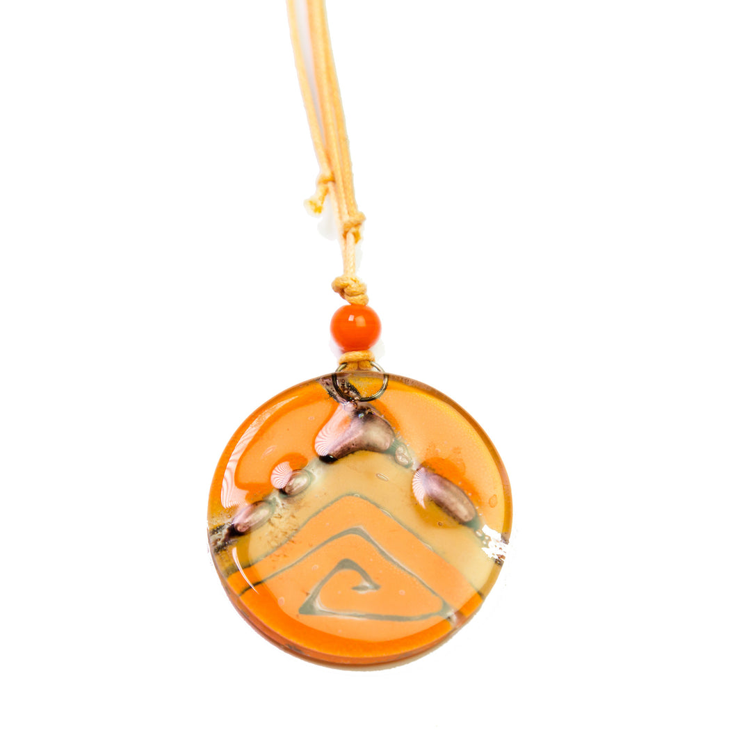 Orange Piramid Necklace