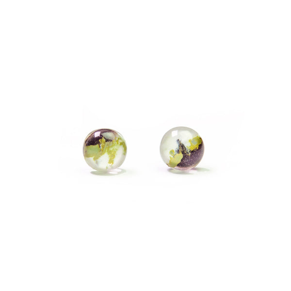 Capri Glass Stud Earrings