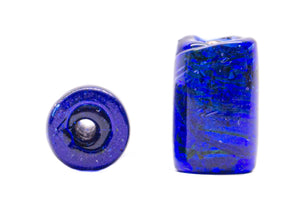 Dotted Cylinder Glass Beads