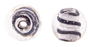Spiral Sphere Glass Beads