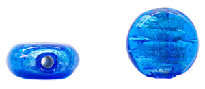 Small Flat Rounded  Glass Beads