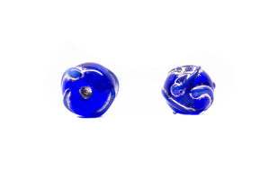 Spheric Striped lampwork Glass Beads