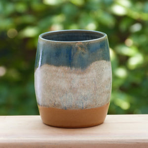 Tumbler curved blue