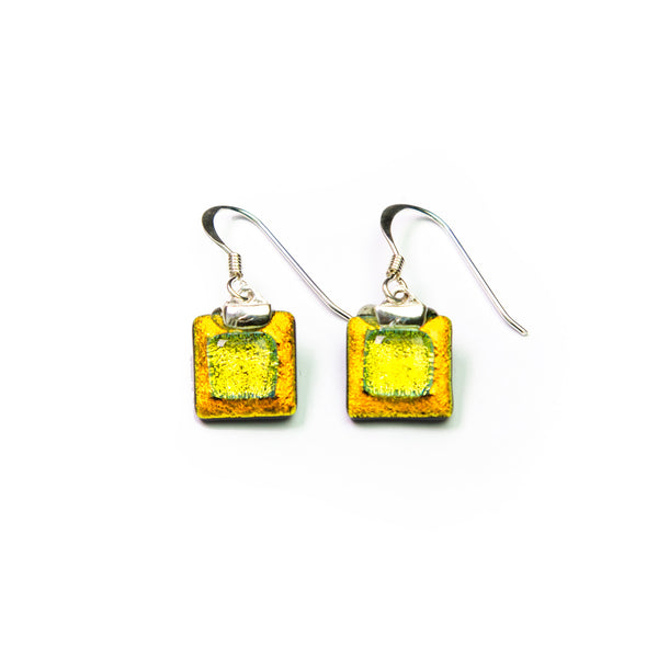 Topi Glass Silver Earrings