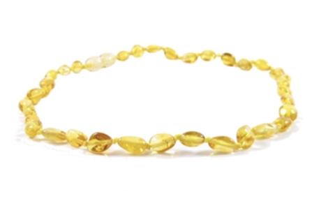 Baltic Amber Necklace- Polished Lemon Bean - Molly Pop Boutique