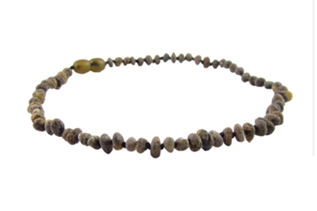 Baltic Amber Necklace- Raw Olive - Molly Pop Boutique