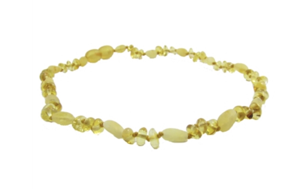 Baltic Amber Adult Necklace- Lemon Baroque Milk Bean - Molly Pop Boutique