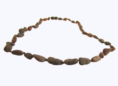 Baltic Amber Adult Necklace- Raw Chesnut Bean - Molly Pop Boutique