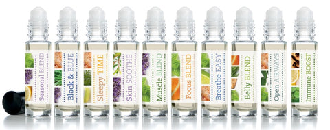 Essential Oil Roller Bottles- Adult Blends: Wellness 15ml - Molly Pop Boutique