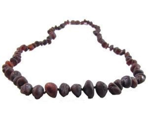 Baltic Amber Necklace - Raw Chestnut - Molly Pop Boutique