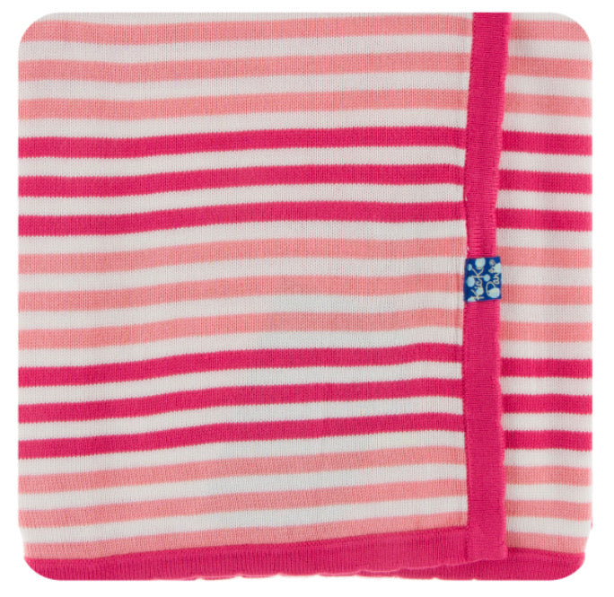 Kickee Pants Knitted Blanket - Forest Fruit Stripe