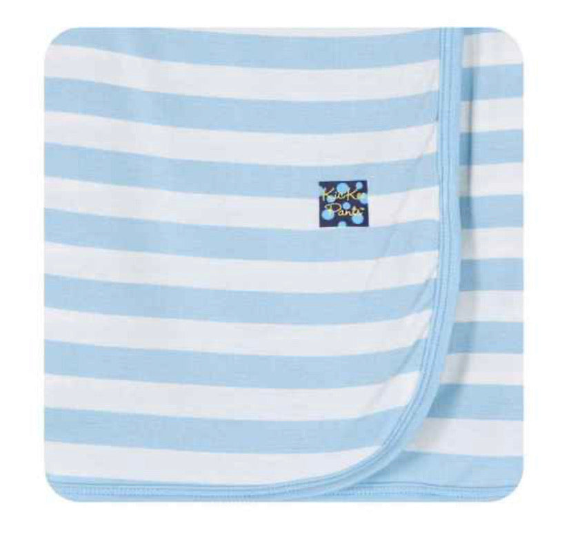 Kickee Pants Swaddle - Pond Stripe