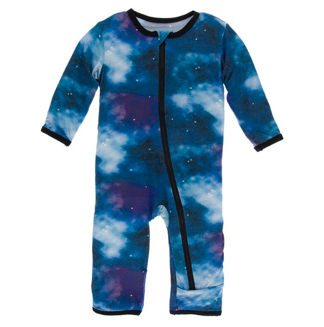 Kickee Pants Zipper Coverall - Wine Grapes Galaxy - Molly Pop Boutique
