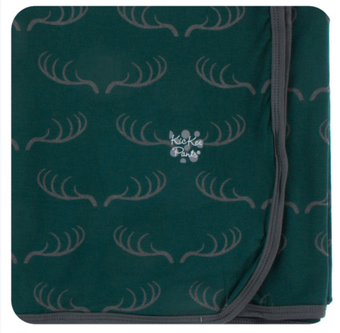Kickee Pants Swaddle Blanket - Pine Deer Rack