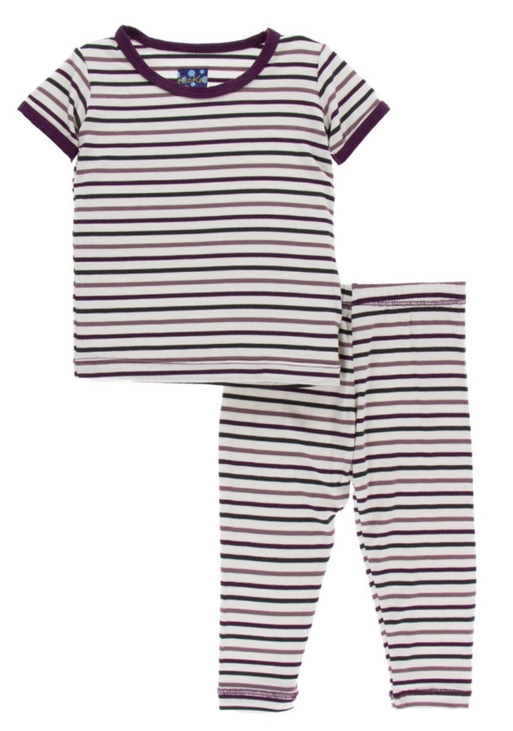 Kickee Pants Pajama Set - Tuscan Vineyard Stripe - Molly Pop Boutique