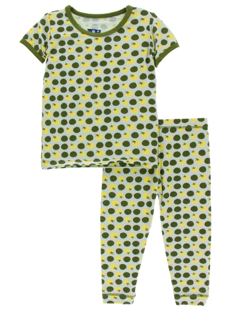 Kickee Pants Pajama Set - Aloe Tomatoes - Molly Pop Boutique