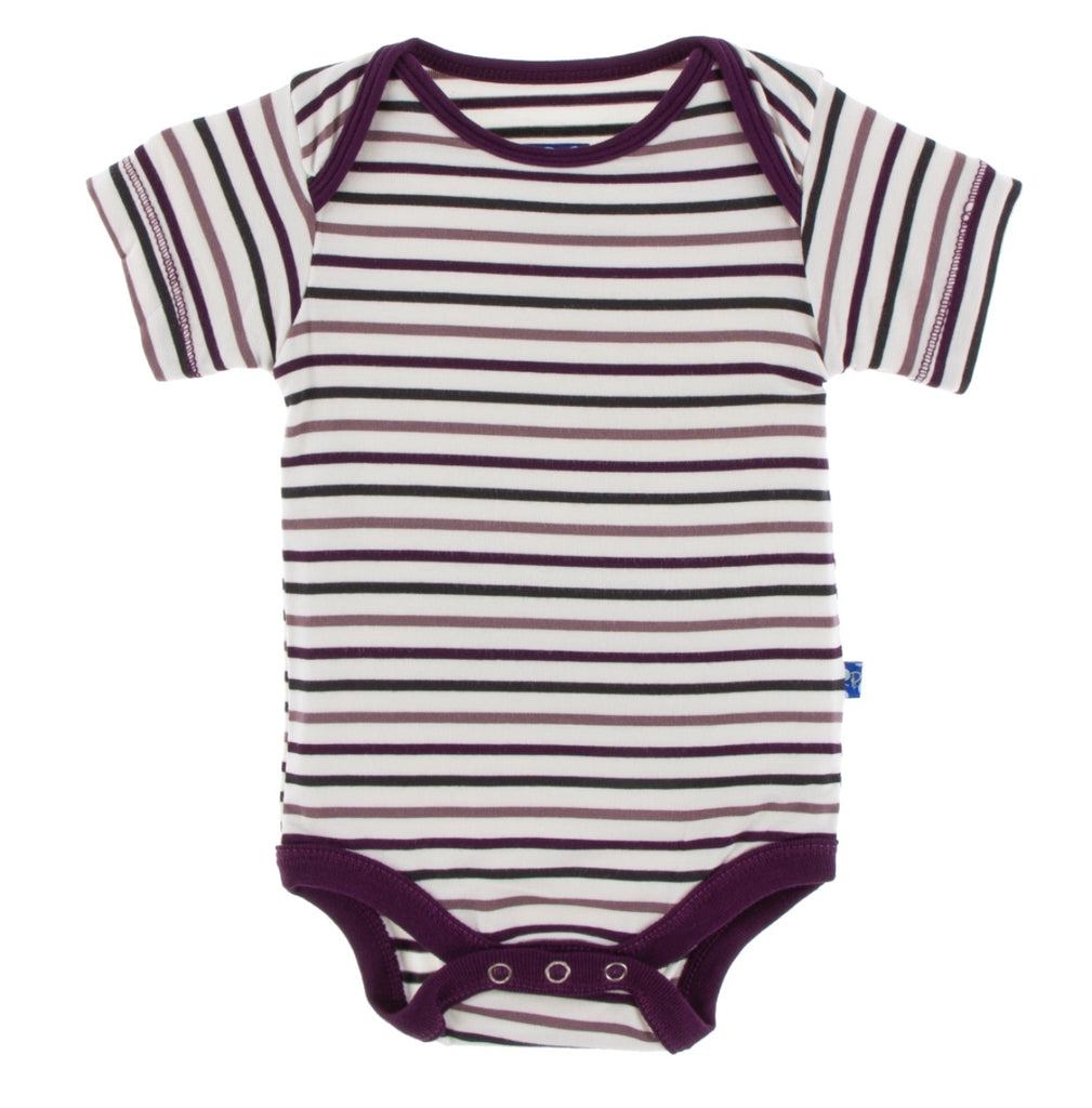 Kickee Pants Onesie - Tuscan Vineyard Stripe - Molly Pop Boutique