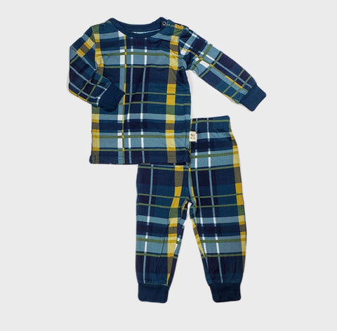 Kozi & Co Pajama Set - Plaid - Molly Pop Boutique