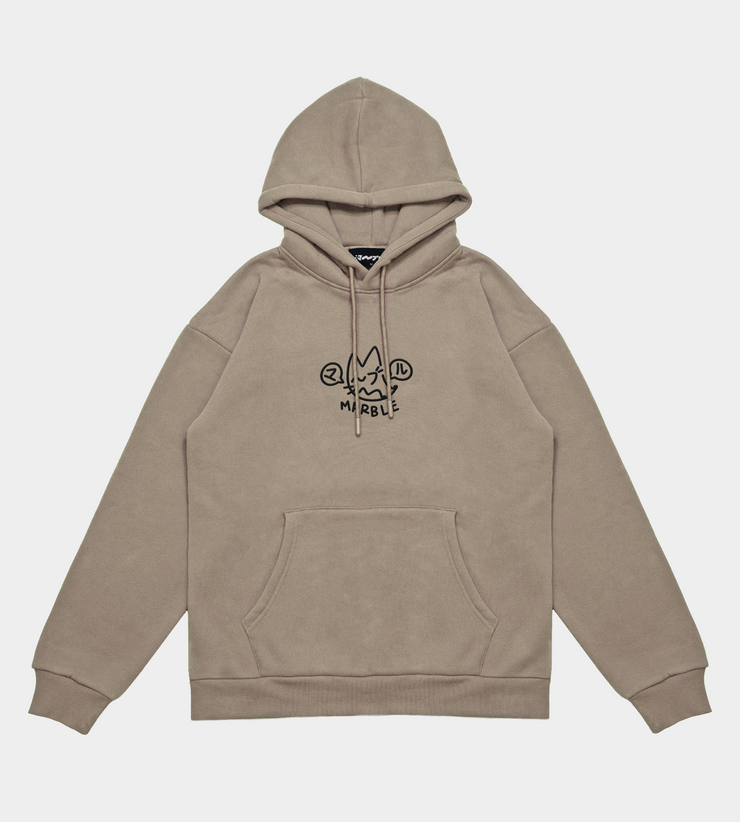 TOK¥O -  Embroidered Dust Hooded Sweatshirt