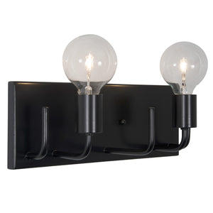 Socket-to-Me 219B02BL 2-Lt Bath/Vanity Fixture - Black