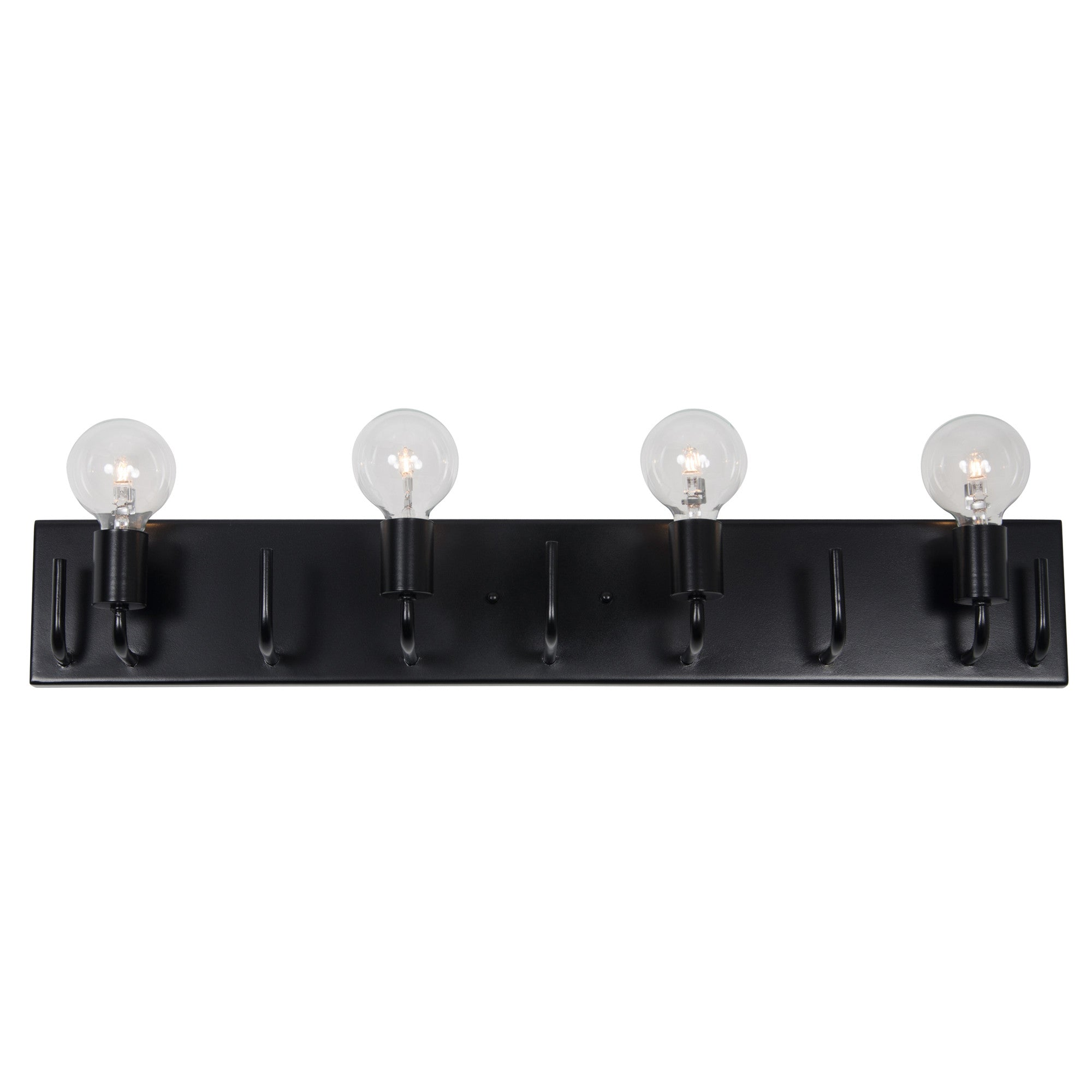 Socket-to-Me 219B04BL 4-Lt Bath/Vanity Fixture - Black