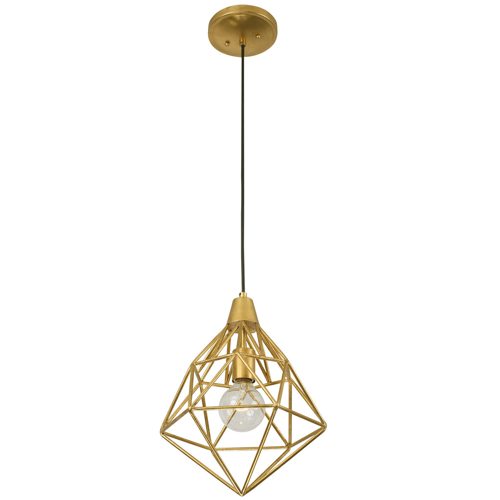 Facet 236P01GL 1-Lt Mini Pendant - Gold Leaf - Varaluz