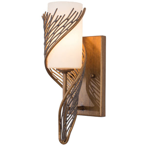 Flow 240K01HO 1-Lt Wall Sconce - Hammered Ore