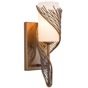 Flow 240K01RHO 1-Lt Right Wall Sconce- Hammered Ore