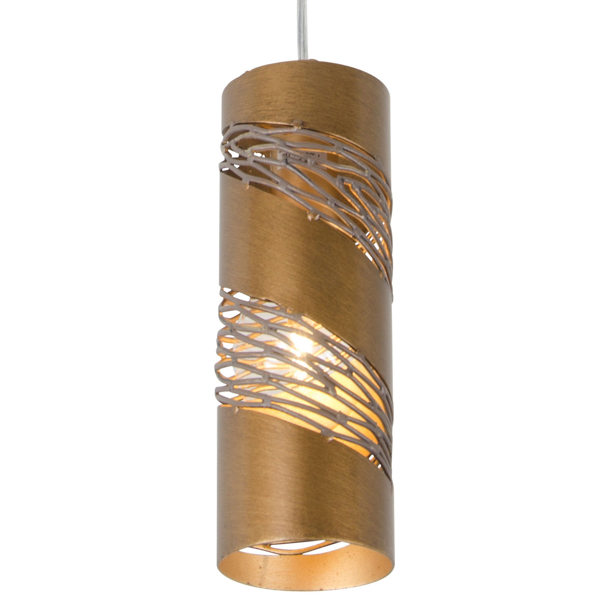 Flow 240M01SHO 1-Lt Small Cylinder Mini Pendant - Hammered Ore