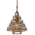 Flow 240P01HO 1-Lt Twist Mini Pendant - Hammered Ore