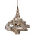 Flow 240P06LHO Large 6-Lt Pendant - Hammered Ore