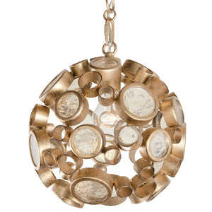 Fascination 265P01ZG 1-Lt Orb Mini Pendant - Zen Gold