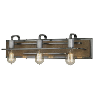 Lofty 268B03SLW 3-Lt Bath/Vanity Fixture - Steel w/ Wheat