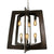 Lofty 268F06SL 6-Lt 2-Tier Chandelier - Steel w/ Zebrawood