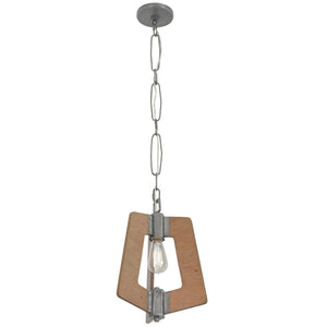 Lofty 268M01SLW 1-Lt Mini Pendant - Steel w/ Wheat
