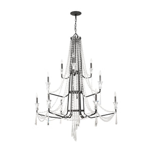 Barcelona 270C12OX 12-Lt 3-Tier Crystal Chandelier