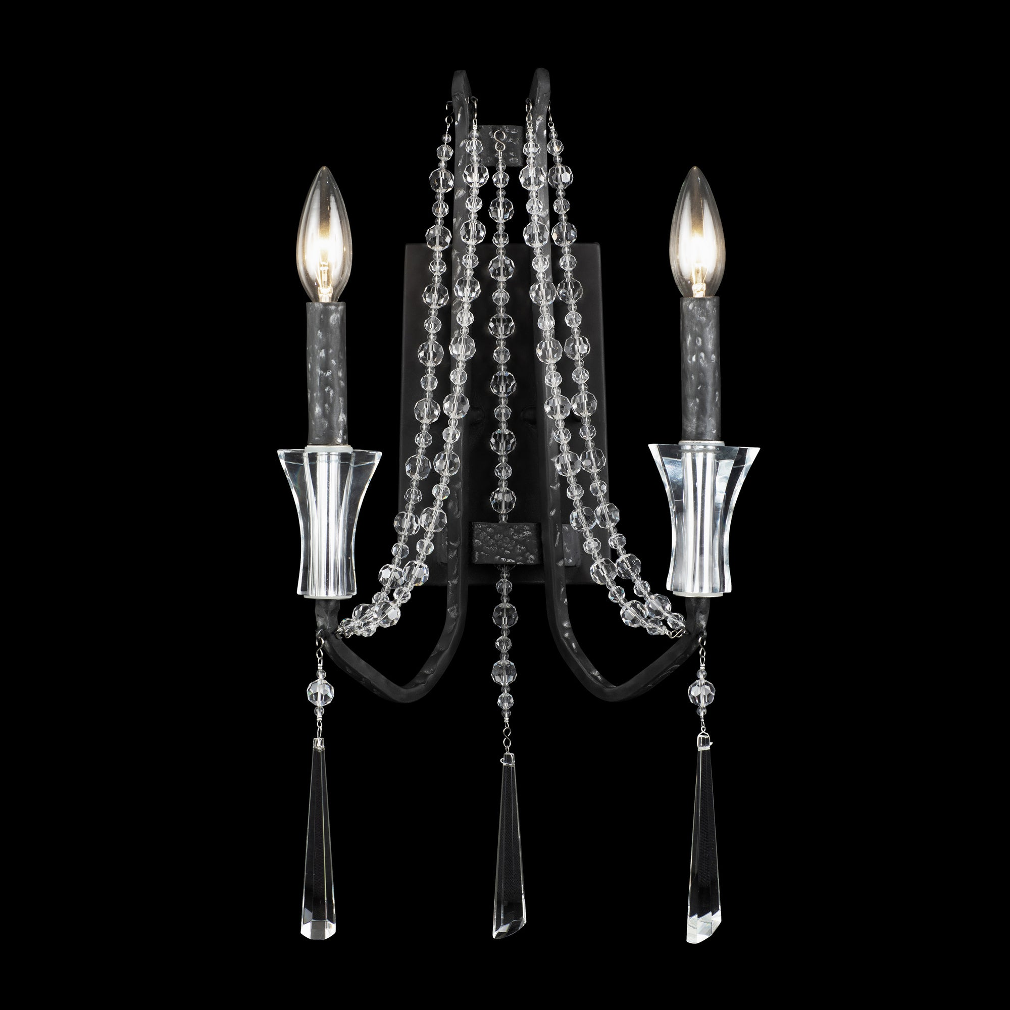 Barcelona 270W02OX 2-Lt Crystal Wall Sconce