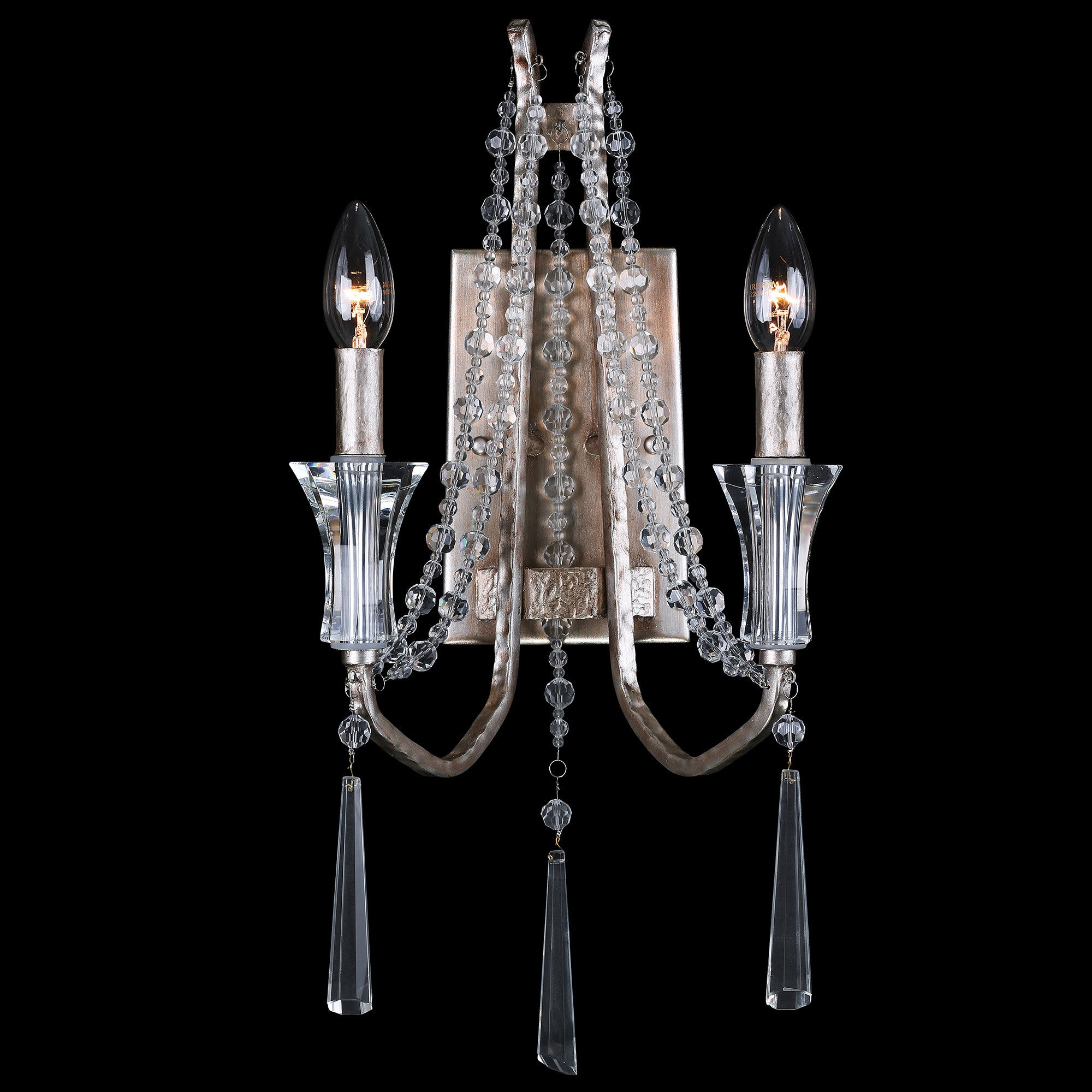 Barcelona 270W02TR 2-Lt Crystal Wall Sconce