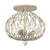 Bask 271S03GD 3-Lt Crystal Ceiling Light