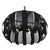Sawyers Bar 4-Lt Pendant - Black 287P04BL