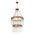 Matrix 14-Lt 2-Tier Chandelier - Havana Gold 309C14HG