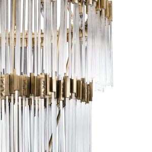 Matrix 30-Lt 4-Tier Chandelier - Havana Gold 309C30HG