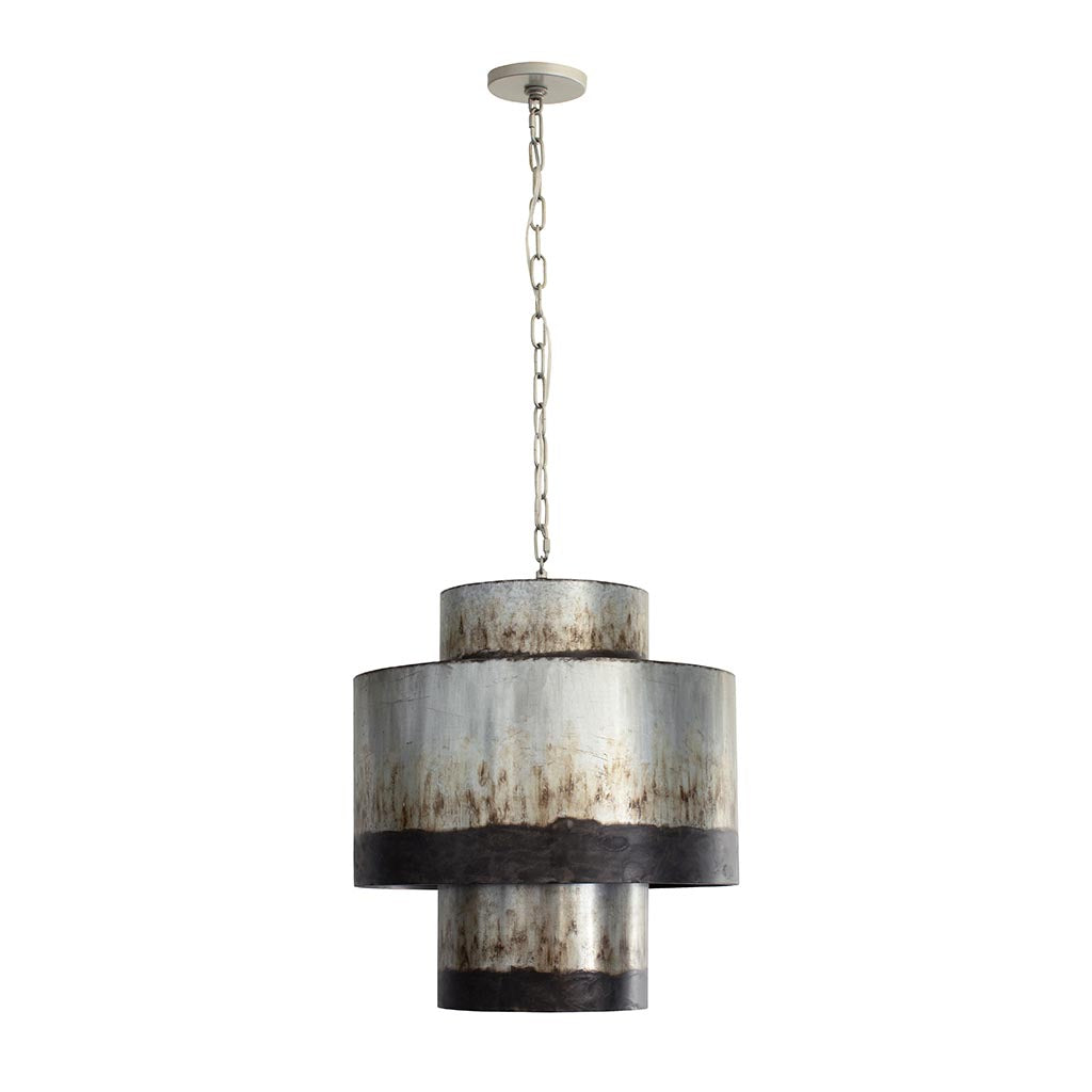 Cannery 4-Lt Tall Pendant - Ombre Galvanized