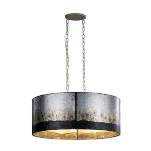 Cannery 6-Lt Oval/Linear Pendant - Ombre Galvanized