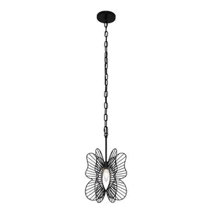 Monarch Butterfly 1-Lt Mini Pendant - Black