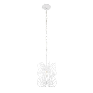Monarch Butterfly 1-Lt Mini Pendant - White