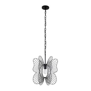 Monarch Butterfly 1-Lt Pendant - Black