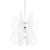 Monarch Butterfly 1-Lt Pendant - White